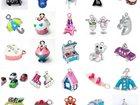 Свежее изображение Ювелирные изделия и украшения Опт, Подвески-фигурки с эмалью и стразами, 33242273 в Москве