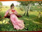 Новое изображение Антиквариат Редкая открытка Фриц Мартин «В лесу», 1902 год, 34296861 в Москве