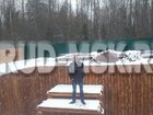 Скачать фотографию  укрепление берега пруда лиственицей 34561853 в Москве