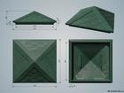 Уникальное foto  Колпак (оголовок, крышка) на кирпичный заборный столб 385х385х180 из полимер-песчаного композита 36686526 в Москве