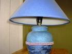 Уникальное фото Шторы, жалюзи Лампа с голубым абажуром, настольная, напольная 38767244 в Москве