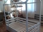 Свежее фотографию Мебель для детей Детская кровать-домик из массива 54022464 в Москве
