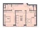 Продается 2-комн. кв-ра площадью 51,1 кв.м на 16 этаже 22 эт