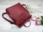Увидеть изображение Женские сумки, клатчи, рюкзаки Рюкзак кожаный бордо женский 65505951 в Москве