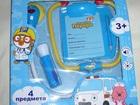 Смотреть фото Детские игрушки Доктор набор со стетоскопом со звуком и светом Пингвинёнок Пороро 67988660 в Москве