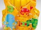 Новое фотографию Детские игрушки Комплект для плавания Веселые рыбки- жилет и нарукавники на 3-5лет 67988714 в Москве