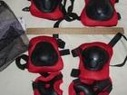 Свежее фото Спортивный инвентарь Комплект защиты (наколенники, налокотники, перчатки), красный 69550238 в Москве