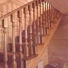 Лестница с разворотом на 180 градусов, с забежными ступенями от производителя