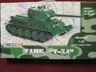 """Сборная модель-копия:Танк т-34 Сборная модель-копия:Танк """"т-34""""из пластика.   Ма"""