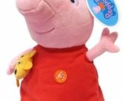 Детские игрушки Мягкая игрушка Пеппа 30 см Peppa Pig станет новой подругой для в