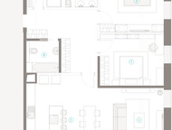 Трехкомнатная квартира на 4-ом этаже в ЖК Полянка 44 Просторная квартира площадь