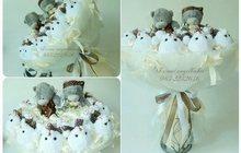 Свадебные букеты из мягких игрушек Москва