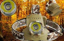 Налобный фонарь 2000 Люмен Маскировка лесная