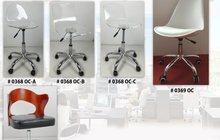 Для офиса прозрачные акриловые стулья на колесах оптом и в розницу