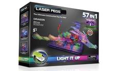 Laser Pegs Дракон с 3D панелью - Светящийся конструктор для мальчиков