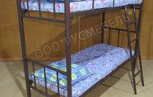 Металлические двухъярусные и одноярусные кровати