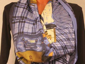 Новое фото Аксессуары платок Hermes шелковый 32384304 в Москве
