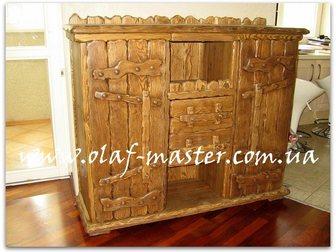 Смотреть foto  Мебель из дерева ручной работы под старину 32515554 в Москве