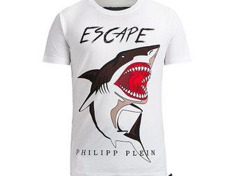 Смотреть фото Мужская одежда Футболка Philipp Plein Shark 32556128 в Москве