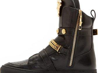 Смотреть изображение Мужская обувь Сникерсы Versace leather medusa high-top 32605049 в Москве