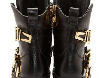 Смотреть фото Мужская обувь Сникерсы Versace leather medusa high-top 32605049 в Москве