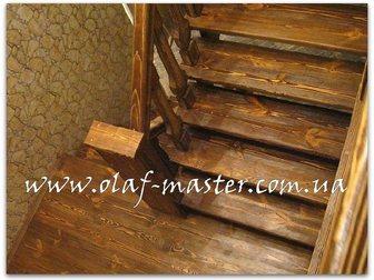 Скачать foto Производство мебели на заказ Лестницы из массива дерева на заказ 32629262 в Москве