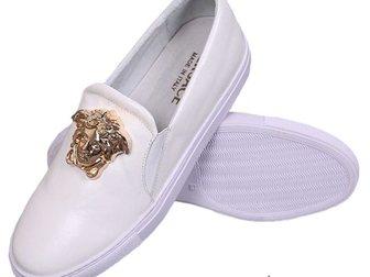 Уникальное фотографию Мужская обувь Кеды Versace Leather Medusa 32797639 в Москве