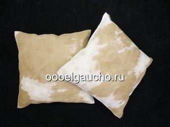 Скачать foto Другие предметы интерьера Декоративные подушки из шкур коров, лисы и чернобурки 32883428 в Москве
