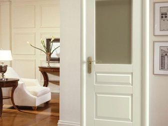 Новое фотографию  Межкомнатная дверь Европан, ЭКО-шпон, Classico, Лондон 2, Белый, 32980744 в Москве