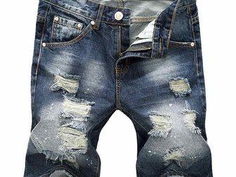Скачать бесплатно foto Мужская одежда Джинсовые шорты Versace Torn 33052997 в Москве