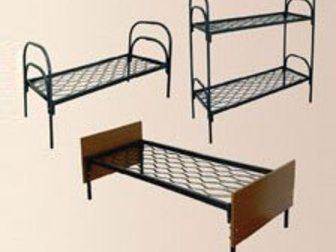 Новое изображение  Одноярусные металлические кровати от производителя, Железные армейские кровати, Опт, 33146619 в Москве