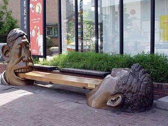 Уникальное изображение  Креативная скамья из металлаДве головы 33168771 в Краснодаре