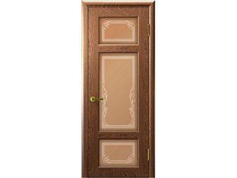 Просмотреть изображение  Межкомнатная дверь фабрики Современные двери, Валентия 3, мореный дуб, ПО, стекло белое с пескоструйной обработкой и лазерной гравировкой, 33214476 в Москве