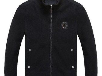 Увидеть фото Мужская одежда Мужская куртка Philipp Plein Woolen Coat 33303821 в Москве