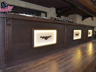 Новое foto Производство мебели на заказ Стойка барная из массива и шпона дуба 33316835 в Москве