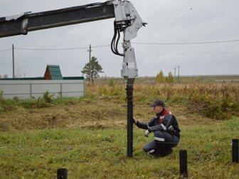 Увидеть фотографию Другие строительные услуги Закручивание винтовых свай ямобуром Nissan Diesel 33864029 в Москве