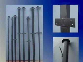 Свежее фото Строительные материалы столбы металлические для заборов 33980197 в Москве