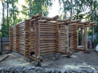 Свежее фото  сруб бани 6 на 4 с двумя перегородками из сосны диаметром 20 сантиметров 33982372 в Новосибирске