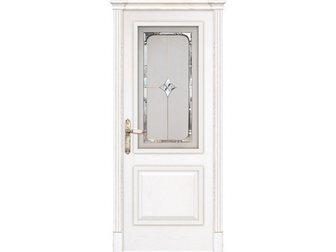 Уникальное foto  Межкомнатная дверь Dariano Porte, Турин, ясень Бланко, витраж Оникс, 34554613 в Москве