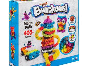 Скачать foto Детские игрушки Конструктор-липучка Банчемс оптом, 400шт (есть в наличии) 37694759 в Москве