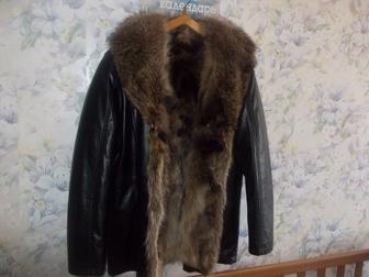Увидеть изображение  Куртка кожаная с мехом волка Италия 38003985 в Москве