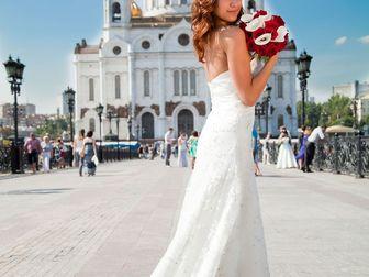 Свежее фото Свадебные платья Платье свадебное со шлейфом айвори 39718203 в Москве