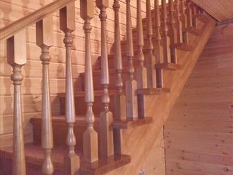 Скачать foto  Лестница с разворотом на 180 градусов, с забежными ступенями от производителя 46464095 в Москве
