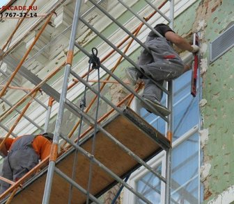 Изображение в Услуги компаний и частных лиц Разные услуги Выполним штукатурку фасадов зданий в Москве в Москве 1500