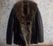 Изображение в   Кожаная куртка Италия мех волка, новая, размер в Москве 13500