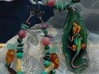 Изображение в Одежда и обувь, аксессуары Ювелирные изделия и украшения Кулон колье +браслет Ящерица роспись-миниатюра в Находке 7500