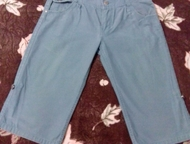 Продам голубые бриджи/шорты на подростка (унисекс), р-р - 27 Продам бриджи/шорты
