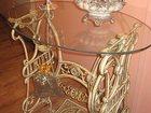 Просмотреть изображение Стекло, зеркала Столик с основанием от старой швейной машинки 33392517 в Нижнем Новгороде