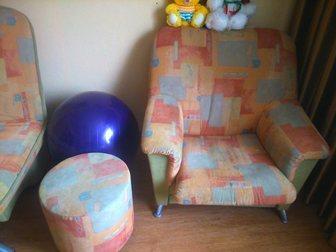 Скачать фотографию Мягкая мебель Продам диван + кресло + пуфик 32670168 в Новокузнецке