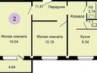 Фотография в Продажа квартир Квартиры в новостройках Продается большая 2-комнатная квартира в в Новосибирске 2373000